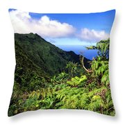 Koolau Summit Trail Throw Pillow