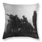 Korean War: Artillery Throw Pillow