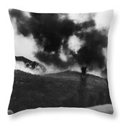 Korean War: Bunker Hill Throw Pillow