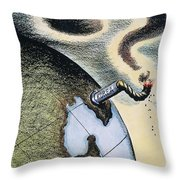 Korean War: Cartoon, 1950 Throw Pillow