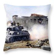 Korean War: Tank, 1951 Throw Pillow