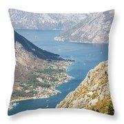 Kotor Bay In Montenegro Throw Pillow