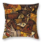 Krumau - Crescent Of Houses Throw Pillow