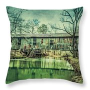 Kymulga Covered Bridge Throw Pillow