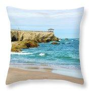 La Loberia Beach View In Salinas, Ecuador  Throw Pillow