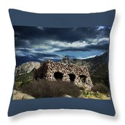 La Luz Rock House Throw Pillow