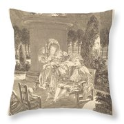 La Soiree Des Thuileries Throw Pillow