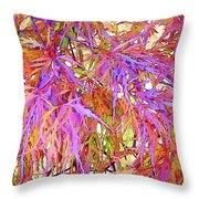Lacy Maple Leaves Throw Pillow