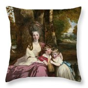 Lady Elizabeth Delme And Her Children Throw Pillow