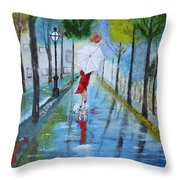 Lady In Red Original Version Throw Pillow