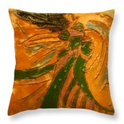 Lady Sings - Tile Throw Pillow