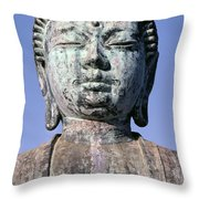 Lahaina, Buddha At Jodo  Throw Pillow