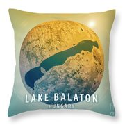 Lake Balaton 3d Little Planet 360-degree Sphere Panorama Throw Pillow