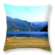 Lake Crescent Wa Throw Pillow