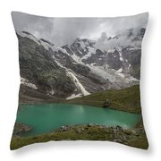 Lake Locce And Monte Rosa - Piedmont / Italy Throw Pillow