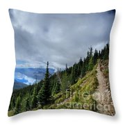 Lake Mcdonald From Mt Brown Trail - Glacier National Park Throw Pillow