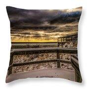 Lake Mi Sunset 5 Throw Pillow