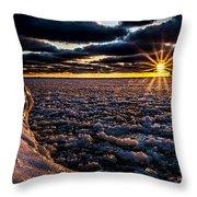 Lake Mi Sunset 8 Throw Pillow