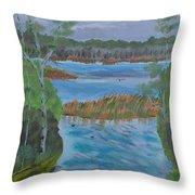 Lake Okahumpka Park Throw Pillow