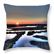 Lake Poygan Sunset Throw Pillow