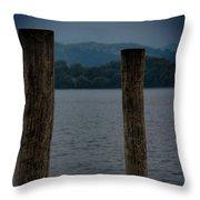 Lake Windermere Cumbria Throw Pillow