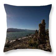 Lakefront And Sunset At Mono Lake, Eastern Sierra, California, U Throw Pillow