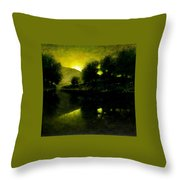 Lakeside Sunset Throw Pillow
