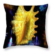 Lambis Digitata Seashell Throw Pillow