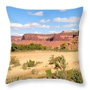 Land Of Canyons Throw Pillow
