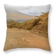 Landscape Near Marsabit, Kenya Throw Pillow