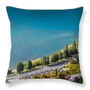 Landscape Of Lake In The South Island, Queenstown New Zealand  Throw Pillow