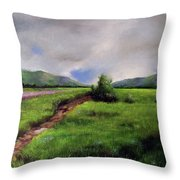 Landscape Sketching Throw Pillow
