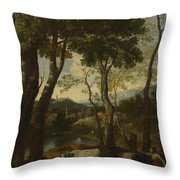 Landscape With A Cowherd Throw Pillow