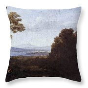 Landscape With Apollo And Mercury  Throw Pillow