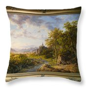 Landscape With Castle Throw Pillow