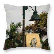 Lantana Lamp Post Throw Pillow