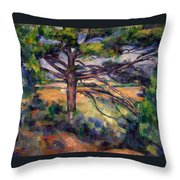 Large Pine And Red Earth Throw Pillow