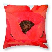 Large Poppy Throw Pillow