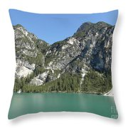 Largo Di Braies, Dolomites, Italy Throw Pillow