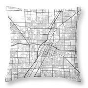 Las Vegas Nevada Usa Light Map Throw Pillow