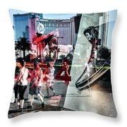 Las Vegas Strip 0231 Throw Pillow