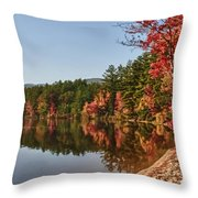 Late Afternoon On Lake Chocorua Throw Pillow