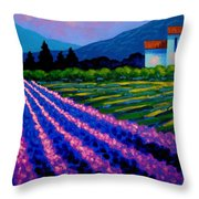 Lavender Field France Throw Pillow