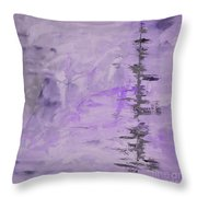 Lavender Gray Abstract Throw Pillow