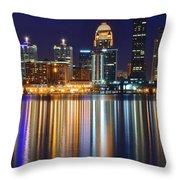 Lavender Louisville Throw Pillow
