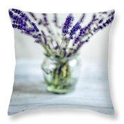 Lavender Still Life Throw Pillow by Nailia Schwarz