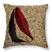 Leaf Alone Throw Pillow