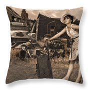 Leaving Home For Good..... Throw Pillow