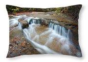 Ledge Brook - White Mountains New Hampshire Usa Throw Pillow by Erin Paul Donovan
