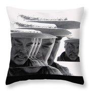 Lee Marvin Monte Walsh Variation 2 Old Tucson Arizona 1969-2012 Throw Pillow